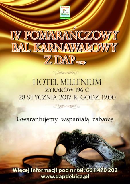 IV Pomarańczowy Bal Karnawałowy z DAPem!!! ruszyły zapisy…